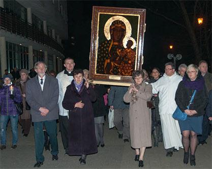 Nawiedzenie parafii przez Obraz Matki Bożej Jasnogórskiej