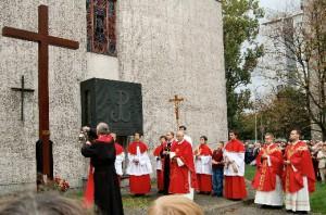 Poświęcenie krzyża misyjnego